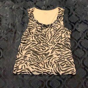 Charter club sleeveless animal print shirt size XL